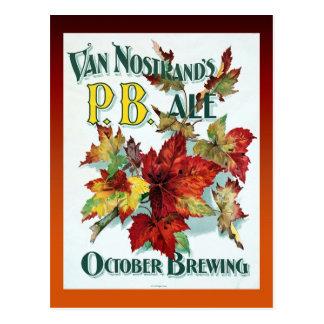 Vintage Van Nostrand's October Ale Postcard