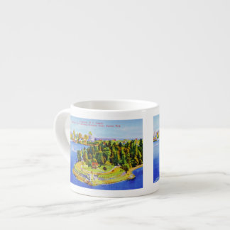 Vintage Vancouver Island Poster Espresso Cup