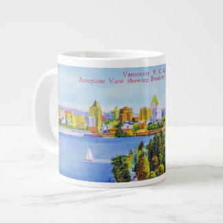 Vintage Vancouver Island Poster Giant Coffee Mug