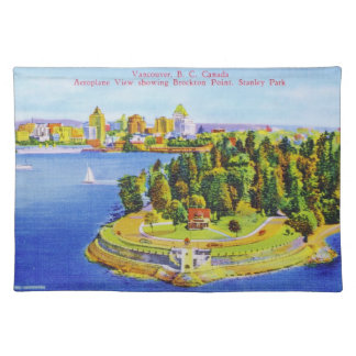 Vintage Vancouver Island Poster Placemat