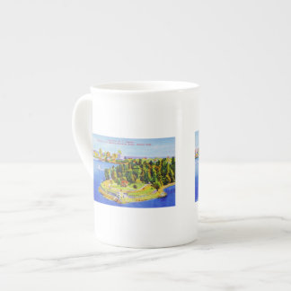 Vintage Vancouver Island Poster Tea Cup