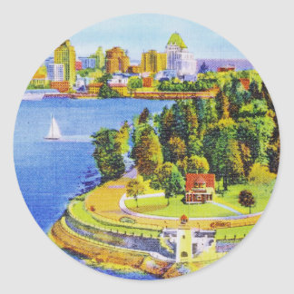 Vintage Vancouver Island Stickers