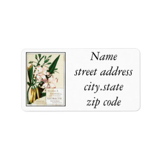 Vintage Vanilla Address Label