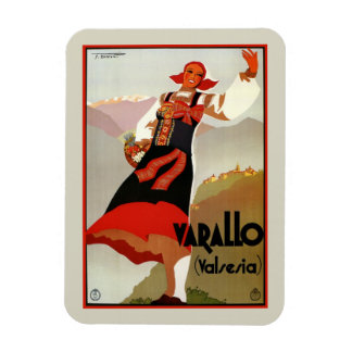 Vintage Varallo Valsesia 1930s Italian travel Magnet