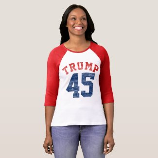 Vintage Varsity Pro Trump 45th President T-Shirt
