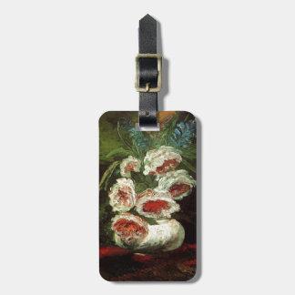 Vintage Vase with Peonies, Vincent van Gogh. Bag Tag
