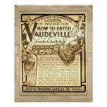 Vintage Vaudeville Instruction Course Advertising Print