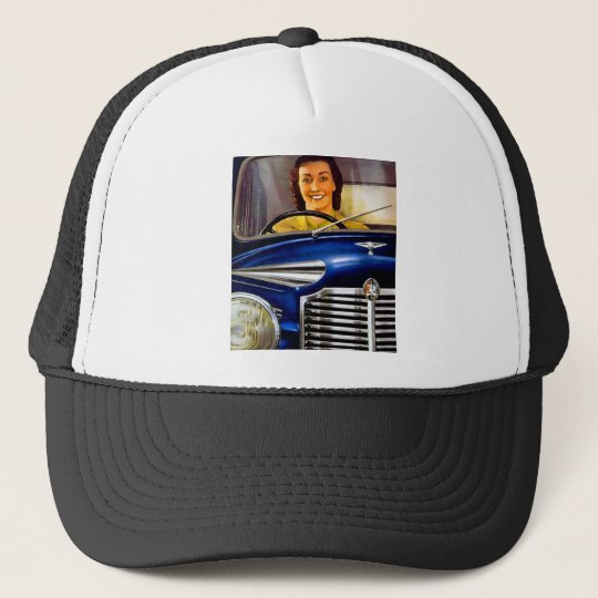 Vintage Vauxhall Motors Advertisement Trucker Hat