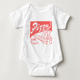 Vintage Vegan Pizza Baby Baby Bodysuit