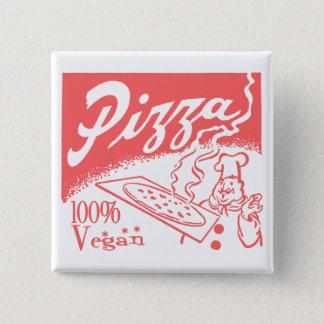 Vintage Vegan Pizza Button