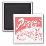 Vintage Vegan Pizza Magnet