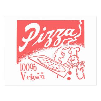 Vintage Vegan Pizza Postcards