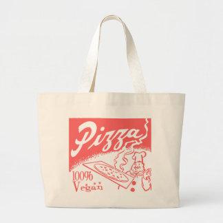 Vintage Vegan Pizza Tote Bag