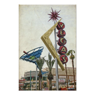Vintage Vegas Neon Sign Poster