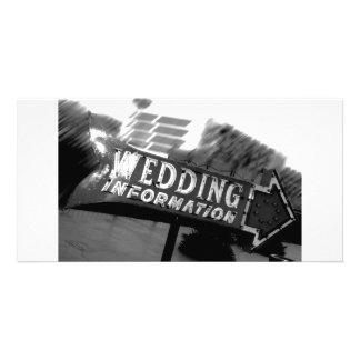 Vintage Vegas Wedding Sign Card