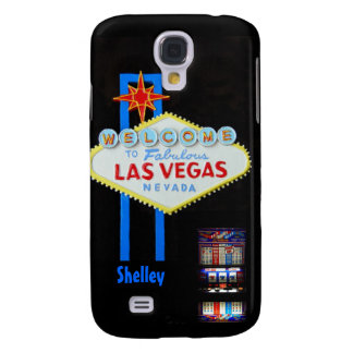 Vintage Vegas Welcome Sign with Slots Samsung Galaxy S4 Cover