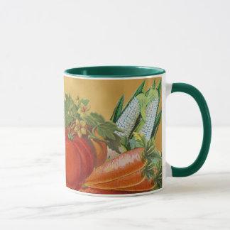 Vintage Vegetable Art Coffee Mug