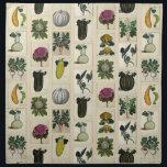 """Vintage Vegetable Botanical Prints napkins<br><div class=""""desc"""">Napkin design of vintage Italian botanical vegetable prints.</div>"""