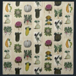 "Vintage Vegetable Botanical Prints napkins<br><div class=""desc"">Napkin design of vintage Italian botanical vegetable prints.</div>"