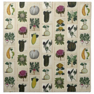 Vintage Vegetable Botanical Prints napkins