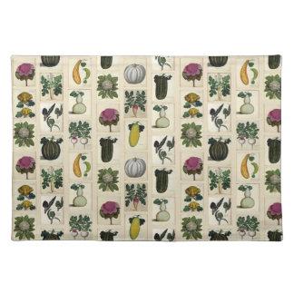 Vintage Vegetable Botanical Prints placemat Cloth Place Mat
