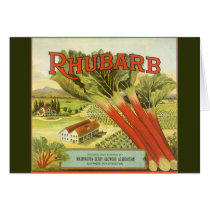 Vintage Vegetable Can Label Art, Rhubarb Farm