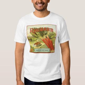 Vintage Vegetable Can Label Art, Rhubarb Farm Tee Shirt