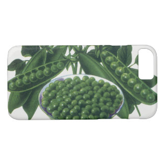 Vintage Vegetable Can Label Art, Winsom Peas iPhone 8/7 Case
