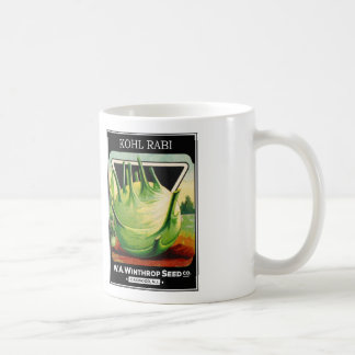 Vintage Vegetable Kohl Rabi Seed Package Coffee Mugs