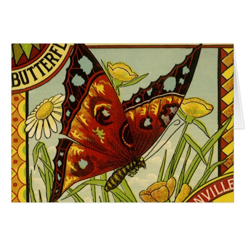 Vintage Vegetable Label Art, Butterfly Brand Beans