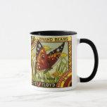 Vintage Vegetable Label Art, Butterfly Brand Beans Mug