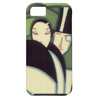 Vintage Vegetable Label, Art Deco Couple, Topper iPhone SE/5/5s Case