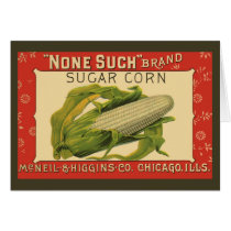 Vintage Vegetable Label Art, None Such Sugar Corn