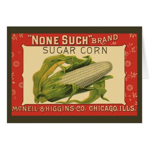 Vintage Vegetable Label Art, None Such Sugar Corn