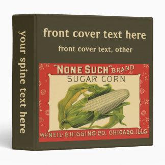 Vintage Vegetable Label Art, None Such Sugar Corn Binder