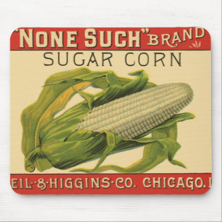 Vintage Vegetable Label Art, None Such Sugar Corn Mouse Pad