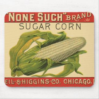 Vintage Vegetable Label Art, None Such Sugar Corn Mouse Pads