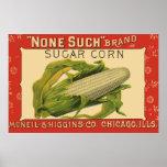 Vintage Vegetable Label Art, None Such Sugar Corn Poster