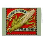 Vintage Vegetable Label, Olney & Floyd Sugar Corn Card