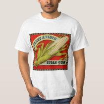 Vintage Vegetable Label, Olney & Floyd Sugar Corn T-Shirt