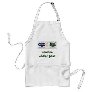 Vintage Vegetable Label Visualize World Peace Peas Adult Apron