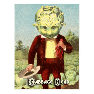 Vintage Vegetable Postcard Series: Cabbage