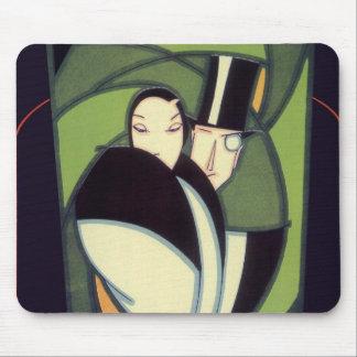 Vintage Vegetable Topper Label, Art Deco Romance Mouse Pad