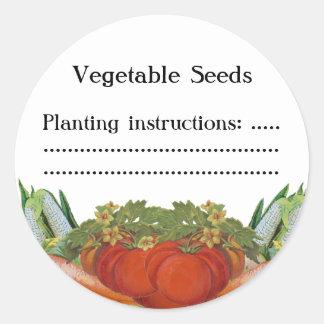 Vintage Vegetables Custom Seed or Canning Label