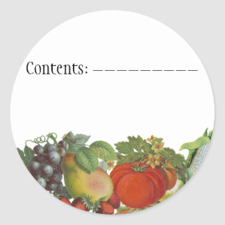 Vintage Vegetables Custom Seed Packet Labels Classic Round Sticker