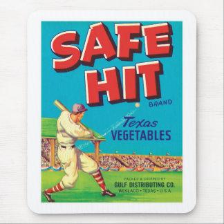 Vintage Vegetables Food Product Label Mouse Pad