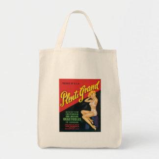 Vintage Vegetables Food Product Label Tote Bag
