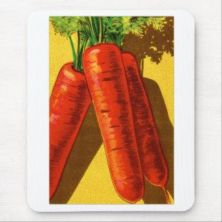 Vintage Vegetables Heirloom Orange Carrots French Mouse Pad