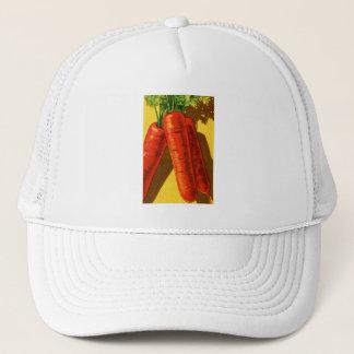 Vintage Vegetables Heirloom Orange Carrots French Trucker Hat