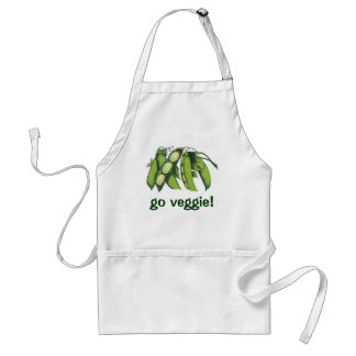 Vintage Vegetables; Lima Beans, Organic Farm Foods Adult Apron